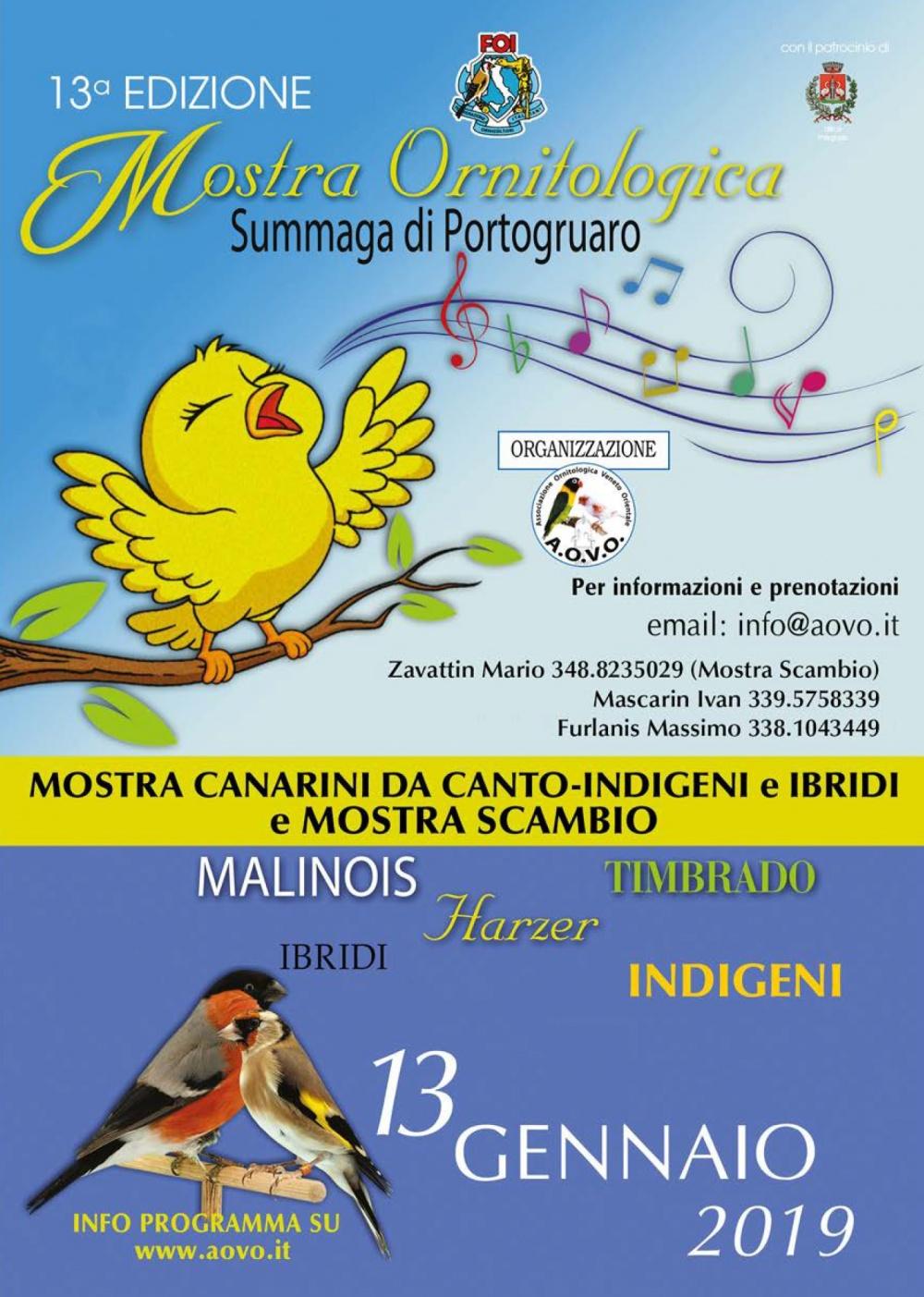 Calendario Mostre Ornitologiche 2019 Sicilia.13 Edizione Mostra Ornitologica